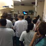 Morgendliche Visite in der Resuscitation Area im Groote Schuur Hospital in Kapstadt
