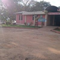 Der Eingang zum Nsawam Government Hospital in Ghana