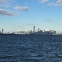 Blick von Staten Island auf Lower Manhattan - New York City