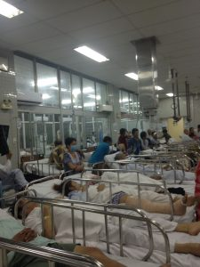 Eine der Stationen am Cho Ray Hospital in Ho Chi Minh City
