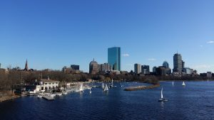 Blick auf den Charles River in Boston