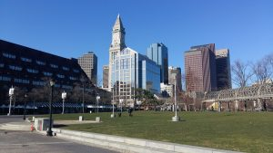 Blick auf Downtown Boston