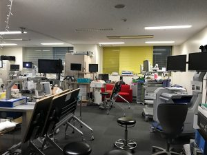 Das Simulationslab am Nagoya University Hospital der Nagoya University Graduate School of Medicine
