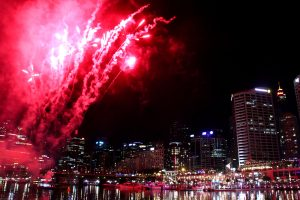 Feuerwerk am Darling Harbour in Sydney